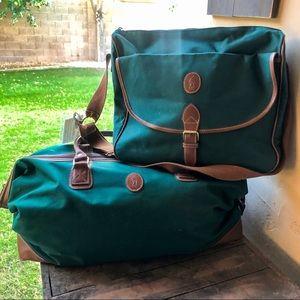 Vintage Ralph Lauren duffel and messenger bag